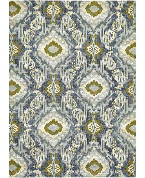 "Bridgeport Home Pashio Pas8 Blue 8' x 11' 4"" Area Rug"
