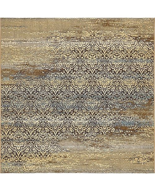 Bridgeport Home Pashio Pas5 Beige 6' x 6' Square Area Rug