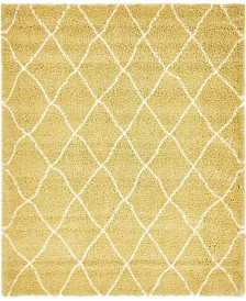 Bridgeport Home Fazil Shag Faz3 Yellow 8' x 10' Area Rug