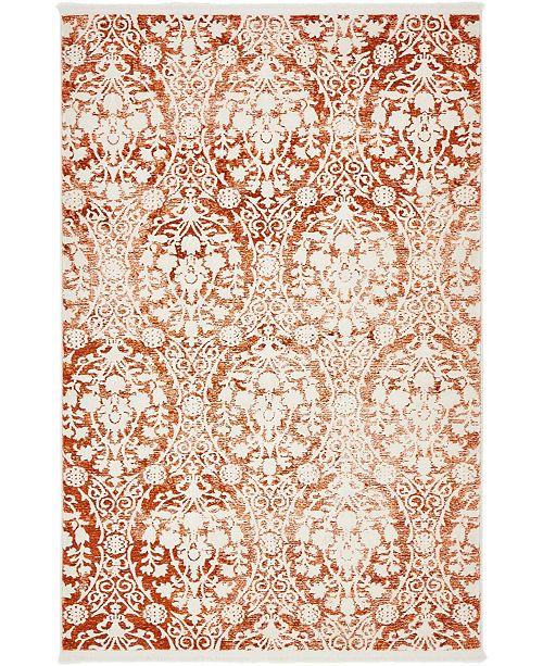 Bridgeport Home Norston Nor5 Terracotta 4' x 6' Area Rug
