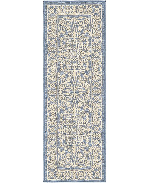 Bridgeport Home Pashio Pas6 Navy Blue 2' x 6' Runner Area Rug