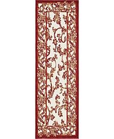 Pashio Pas4 Beige/Terracotta 2' x 6' Runner Area Rug