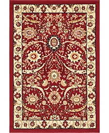 Aelmoor Ael1 Red 4' x 6' Area Rug