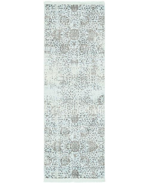 "Bridgeport Home Kenna Ken2 Turquoise 2' 2"" x 6' Runner Area Rug"
