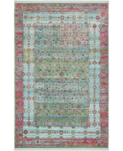 "Bridgeport Home Kenna Ken2 Blue 5' 5"" x 8' Area Rug"