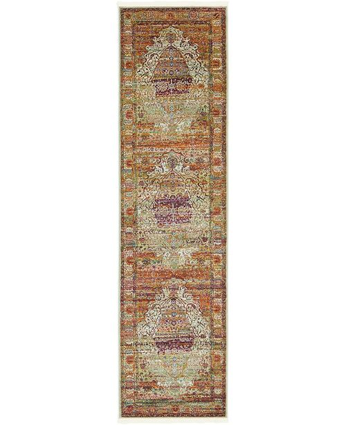 "Bridgeport Home Kenna Ken6 Ivory 2' 7"" x 10' Runner Area Rug"