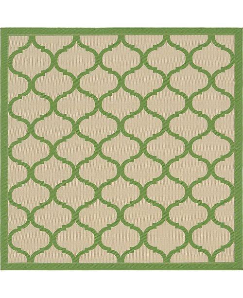 Bridgeport Home Pashio Pas5 Green 6' x 6' Square Area Rug