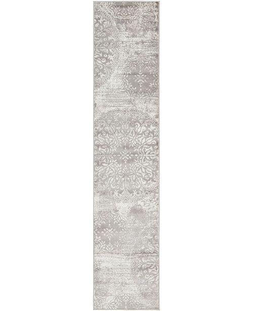 "Bridgeport Home Basha Bas7 Gray 2' x 9' 10"" Runner Area Rug"
