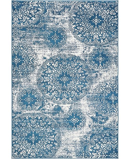 Bridgeport Home Basha Bas7 Blue 6' x 9' Area Rug