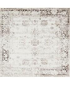 Basha Bas1 Beige 8' x 8' Square Area Rug