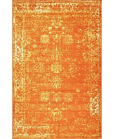 "Bridgeport Home Basha Bas1 Orange 3' 3"" x 5' 3"" Area Rug"