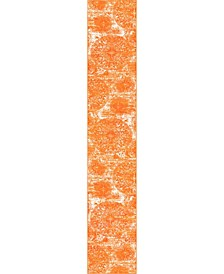 "Basha Bas7 Orange 3' 3"" x 19' 8"" Runner Area Rug"