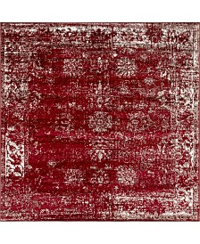 Bridgeport Home Basha Bas1 Burgundy 6' x 6' Square Area Rug