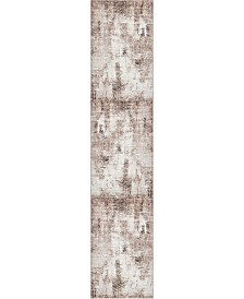 "Bridgeport Home Basha Bas6 Dark Beige 2' x 9' 10"" Runner Area Rug"