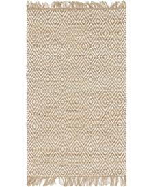 "Braided Tones Brt3 Natural/White 3' 3"" x 5' Area Rug"