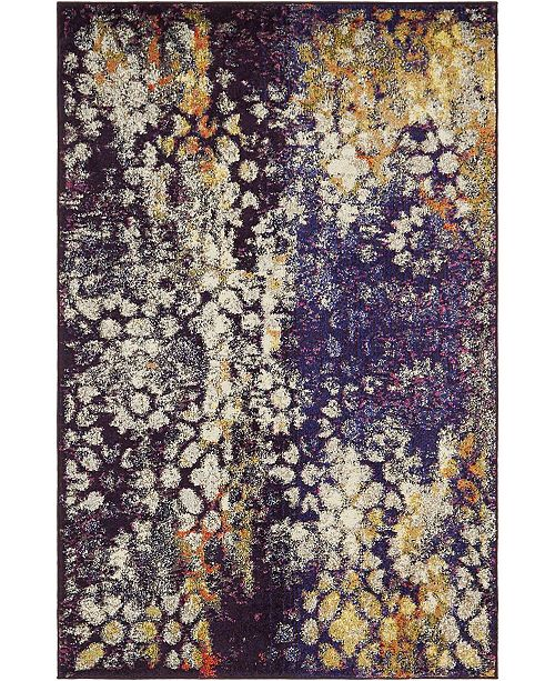 Bridgeport Home Brio Bri1 Navy Blue 4' x 6' Area Rug