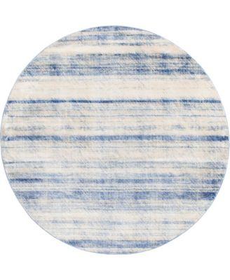 Haven Hav3 Blue 8' x 8' Round Area Rug