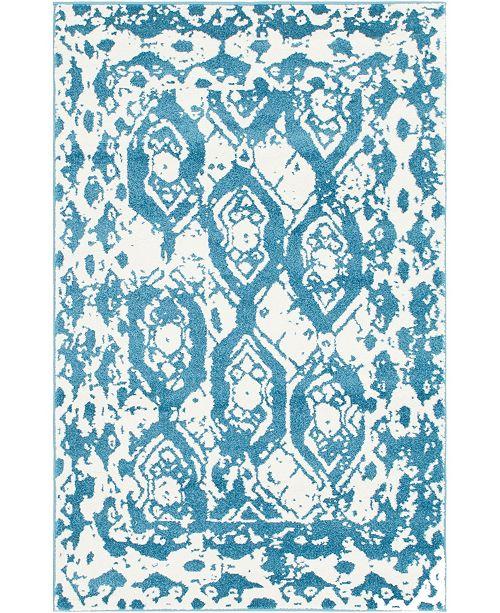 Bridgeport Home Mishti Mis5 Blue 4' x 6' Area Rug