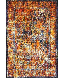 Bridgeport Home Mishti Mis1 Orange 4' x 6' Area Rug