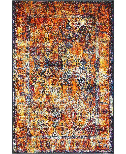 Bridgeport Home Mishti Mis1 Orange 4' x 6' Area Rug