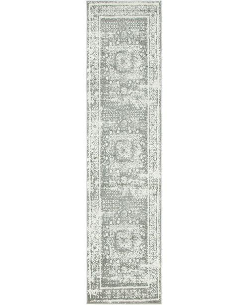 "Bridgeport Home Mishti Mis1 Gray 2' 7"" x 10' Runner Area Rug"