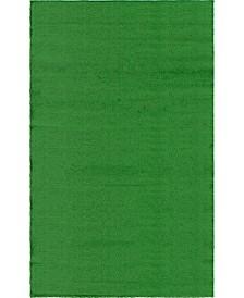 Bridgeport Home Pashio Grass Pag1 Green 5' x 8' Area Rug
