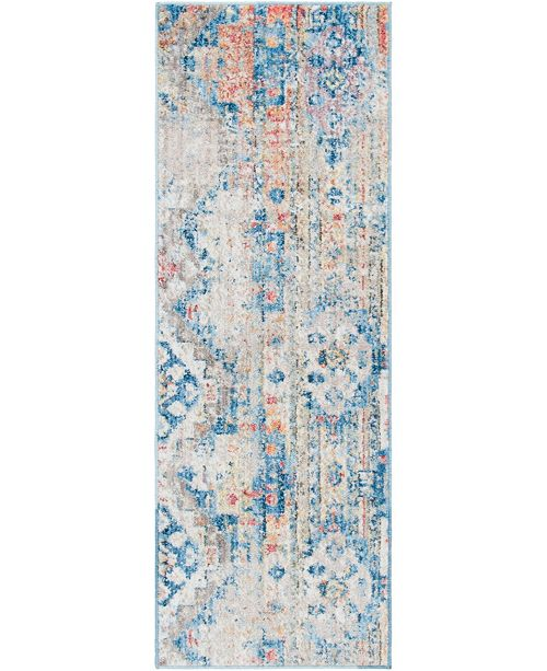 "Bridgeport Home Nira Nir6 Beige 2' 2"" x 6' Runner Area Rug"