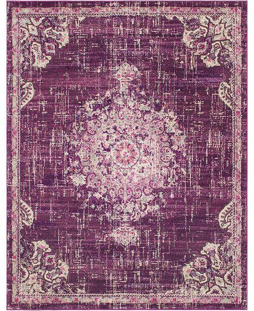 Bridgeport Home Lorem Lor1 Purple 8' x 10' Area Rug