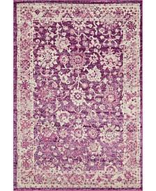 "Lorem Lor3 Purple 5' 3"" x 7' 7"" Area Rug"