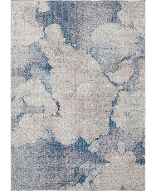 Bridgeport Home Prizem Shag Prz4 Blue Gray 7' x 10' Area Rug