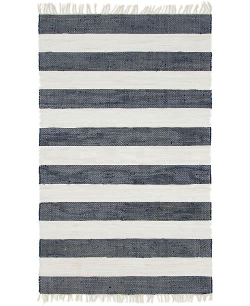 Bridgeport Home Jari Jar5 Navy Blue 5' x 8' Area Rug