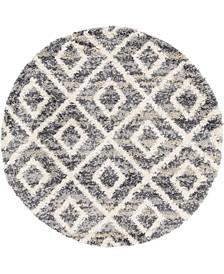 Lochcort Shag Loc2 Gray 5' x 5' Round Area Rug