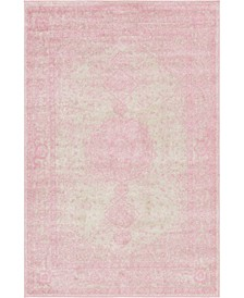 Mobley Mob1 Pink 4' x 6' Area Rug