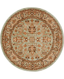 "Thule Thu1 Light Green 4' 5"" x 4' 5"" Round Area Rug"