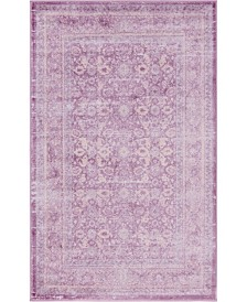 "Bridgeport Home Anika Ani2 Violet 3' 3"" x 5' 3"" Area Rug"