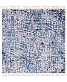 "Levia Lev3 Blue 7' 7"" x 7' 7"" Square Area Rug"