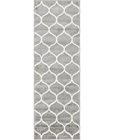 Plexity Plx2 Light Gray 2' x 6' Runner Area Rug