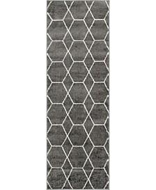 Plexity Plx1 Dark Gray 2' x 6' Runner Area Rug