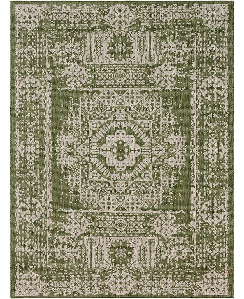 Bridgeport Home Pashio Pas8 Green 9' x 12' Area Rug