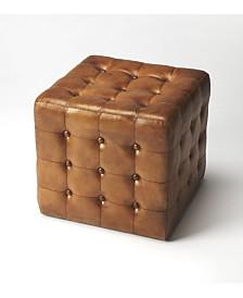 Butler Leon Leather Ottoman