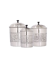 Old Dutch International 3 Piece Antique Embossed Victoria Canister Set