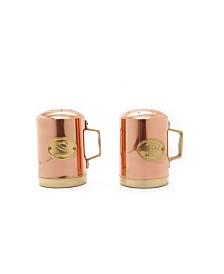 """Old Dutch International 4.5"""" Decor Copper Stovetop Salt and Pepper Set"""
