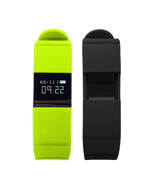 iTouch iFitness Activity Tracker with Lime Green Strap and Bonus Black Strap