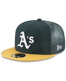 New Era Oakland Athletics On-Field Mesh Back 59FIFTY Fitted Cap