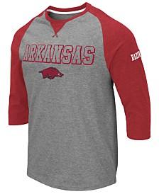 Colosseum Men's Arkansas Razorbacks Team Patch Three-Quarter Sleeve Raglan T-Shirt