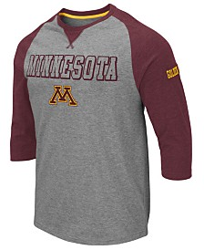 Colosseum Men's Minnesota Golden Gophers Team Patch Three-Quarter Sleeve Raglan T-Shirt