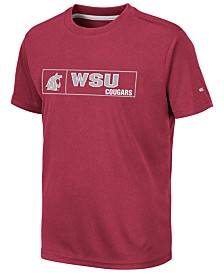 Colosseum Big Boys Washington State Cougars Boxed Logo Polyester T-Shirt