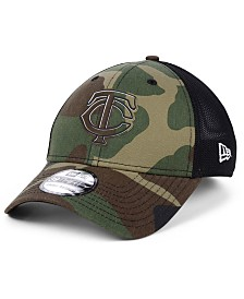 New Era Minnesota Twins Camo Trucker 39THIRTY Cap