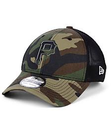 New Era Pittsburgh Pirates Camo Trucker 39THIRTY Cap