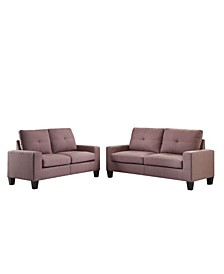 Platinum II Sofa and Loveseat